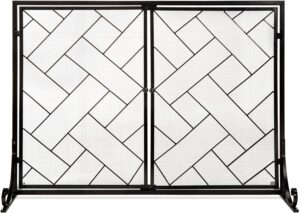 Best Choice Products 44x33in 2-Panel Handcrafted Wrought Iron Decorative Mesh