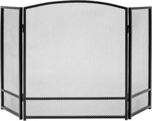 Best Choice Products 47x29in 3-Panel Simple Steel Mesh