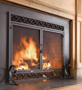 Plow & Hearth Scrollwork Small Fireplace Screen